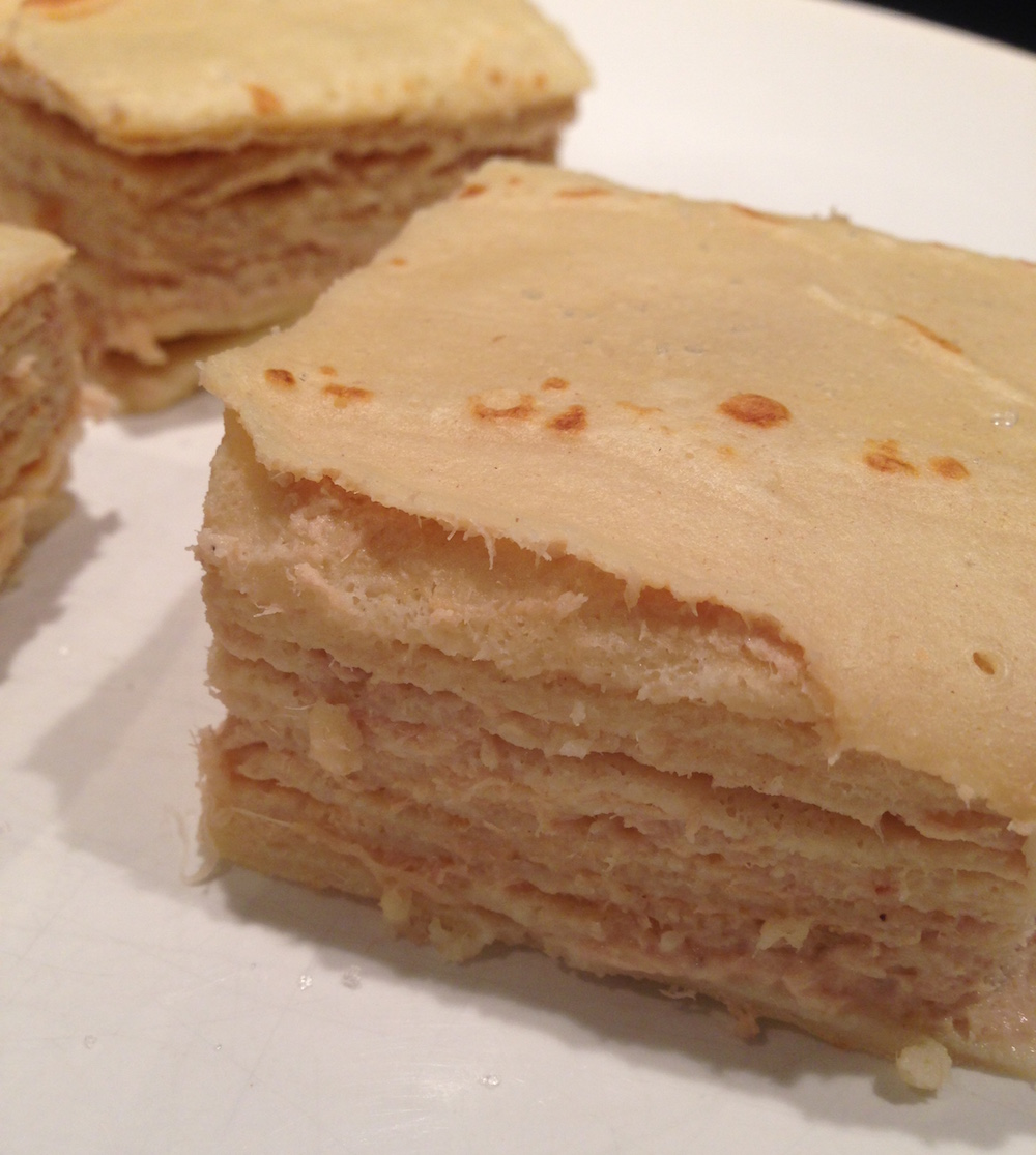G teau de cr pes au thon et la cr me fra che recettes thermomix - Recette crepe au thermomix ...
